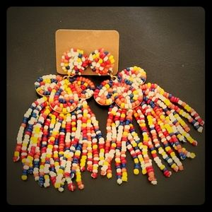 Jewelry - NWT dangling chunky confetti beaded earrings